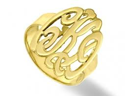 Mens Monogram Rings Ring Available In Sterling Silver Or Gold Plate Over Sterling