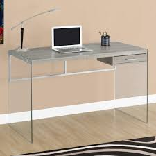 monarch computer desk 48l glossy white tempered glass for tempered
