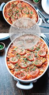 Dinner Ideas Using Chicken Baked Orzo With Chicken