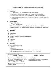 semi detailed lesson plan in teaching short story poem plans for