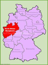 Google Map Germany by North Rhnorth Rhine Westphalia Location On The Germany Map