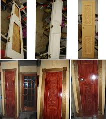 redo of kitchen pantry door old hollow core door cut installed