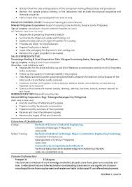 Sample Resume In The Philippines by Gcguico Resume