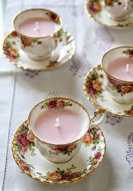 tea cup candles 11 cool candle projects for beginners floral and