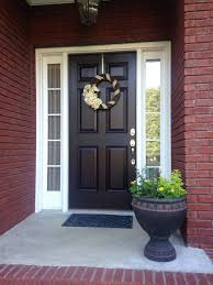 what color front door with a gray house ideas red brick and black