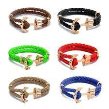 anchor jewelry bracelet images Anchor shop new fashion jewelry pu leather bracelet men anchor jpg
