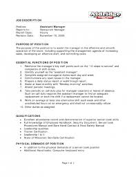 the brilliant assistant manager duties resume resume format web
