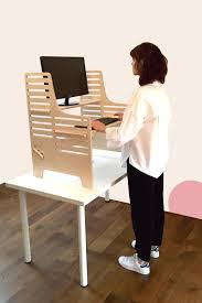 Sitting And Standing Desk by Dogs Bone Standing Desk Supawell