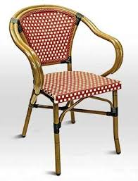 ivory chair rattan frenchie de bistro rattan cafe arm chair