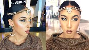 egyptian goddess makeup hair tutorial diy head accessory youtube