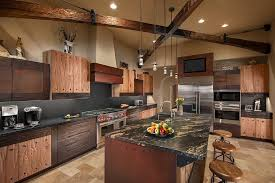 Titanium Granite Kitchen Southwestern With Black Backsplash Glazed