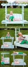 awesome sandbox could double as a seating spot with cushions and