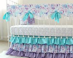 Pink And Aqua Crib Bedding Lottie Da Baby Etsy