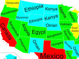 Mexico States Map by Map Of Of Us States Gdp And Other Countries Business Insider