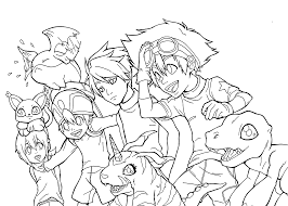 digimon anime coloring pages for kids printable 19414
