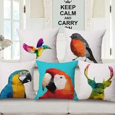 Factory Direct Home Decor Cheap Pillow Cushion Cover Buy by Nordic Symphony Abstract Animal Cushion Covers Cotton Linen