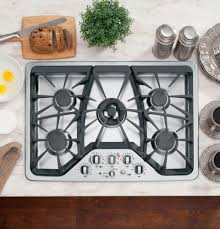 Gas Cooktop Btu Ratings Ge Cgp350setss 30 Inch Gas Cooktop With 5 Sealed Burners 20 000