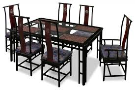 Oriental Chairs Asian Style Dining Room Furniture Round Rosewood Dining Set In