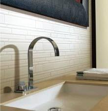 Glass Tile Backsplash Ideas - Basket weave tile backsplash