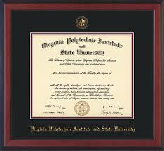 virginia tech diploma frame virginia tech diploma frame rosewood w vt seal black maroon mat