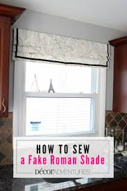 Roman Shades Valance How To Sew A Roman Shade Easy Roman Shade Fake Roman Shade Valance