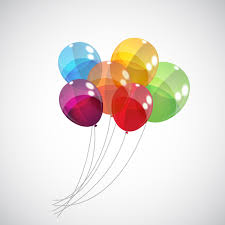 free balloons transparent colored balloons vector background 01 vector