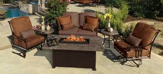 Bbq Tables Outdoor Furniture by Outdoor Furniture With Fire Pit Table Outdoorlivingdecor
