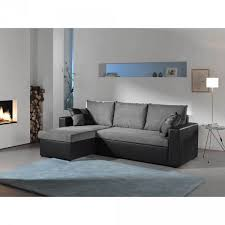 protection canapé d angle canapé d angle 4 places convertible noir et gris salon