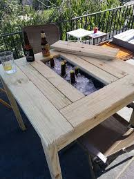 Build Wooden Patio Table by Best 25 Homemade Outdoor Furniture Ideas On Pinterest Outdoor