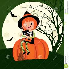 halloween witch sitting on a pumpkin stock vector image 44780412