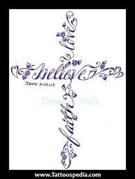 faith cross tattoos