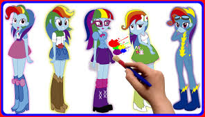 my little pony equestria girls rainbow dash coloring book for