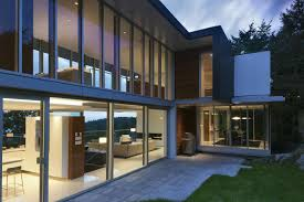 modern awesome design of the modern windows house that has white