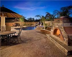 Backyard Concrete Patio Outdoor Patio Designs And Outdoor Living Rooms