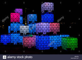 Cube Lights Art Display Led Cube Lights At Night Victoria British Columbia
