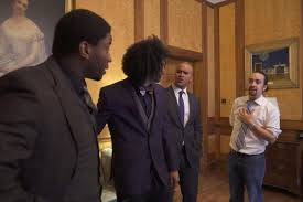 hamilton cast does west wing walk and talk from the east wing