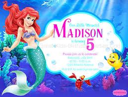 ariel birthday invitations u2013 gangcraft net