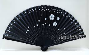 japanese fans japanese fan black based with falling