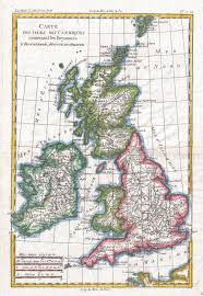 Map Of England by Map Of England By Rigobert Bonne And Guillaume Raynal 1780