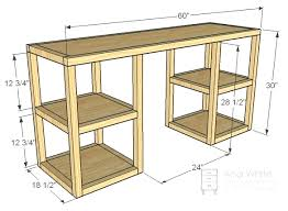 Dvd Holder Woodworking Plans by Desk Double Pedestal Desk Plans Pedestal Computer Desk Plans