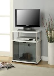 small white tv cabinet convenience concepts designs2go no tools tv stand with black glass