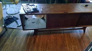 Upcycled Stereo Cabinet Mid Century Stereo Console U2013 Misadventures In Upcycling And