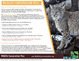 what is the wildlife conservation pass project support a federal