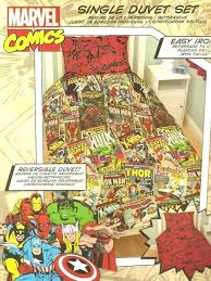 Superhero Double Duvet Set Marvel Comics Heroes Reversible Single Duvet Cover Bedding