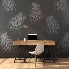 large jellyfish stencil for walls trendy nautical wall stencils