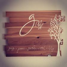 personalized family wood sign home decor by saidinstoneonline