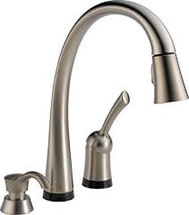 kitchen faucets touch delta 980t sssd dst pilar single handle pull touch kitchen