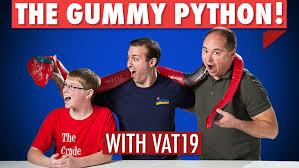 eating 26 lb gummy python vat19 ceo 7 ft long crude