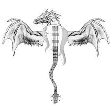 dragon guitar tattoo design best tattoo designs