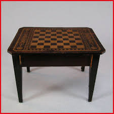 chess table antique dollhouse biedermeier boulle chess table mid to late 1800s